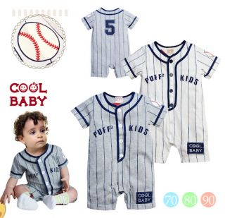 Baby Boys Sporty Baseball Romper Bodysuit Outfit 3 6M 6 12M 12 18M