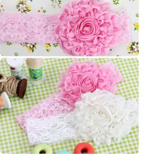 Cute Baby Toddlers Infants Girls Head Decoration Lace Flowers Headband Hair Band