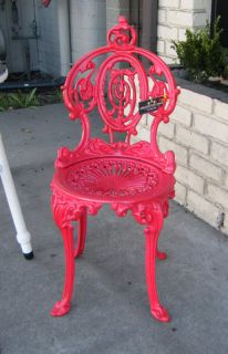 Atlantic Stove Works 1930's Antique Victorian Cast Iron Garden Chair
