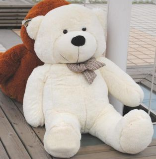 Giant 100cm 39'' Big Cute Beige Plush Teddy Bear Huge Soft 100 PP Cotton Toy LC