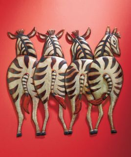 Zebra Giraffe Elephant Safari Metal Wall Art Jungle Animal Home Bed Bath Room