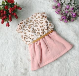 Pretty Baby Girls Faux Fur Leopard Print Sundress Dress Kids Princess Skirt Belt