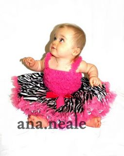 Baby Girl Tutu Zebra Skirt Ruffle Tutu Top Set Dress Suit Ruffle 9 12 12 18M