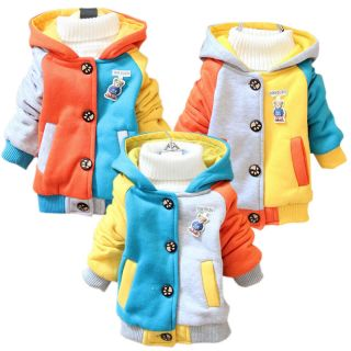 Kid Baby Toddler Coats Girl Boy Hoodie Animal Panda Winter Outerwear Tops 1 3Y