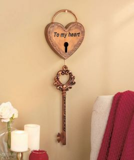 Key My Heart Lock Wall Decor Wife Husband Anniversary Love Christmas Bedroom New
