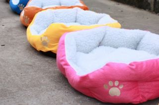 New Plush Warm Pet Puppy Dog Cat Bed Tent House with Mat