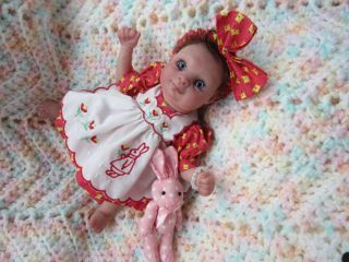 "Adorable Mini Reborn Baby Girl ""Teeny"" A OOAK Doll Sculpted by Pat Secrist"