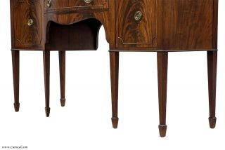 Fantastic Antique American Crotch Swirl Flamed Mahogany Sideboard Buffet