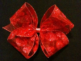 Sheer Glitter Dot Baby Infant Toddler Big Girl Jumbo Extra Large Hairbows U Pick