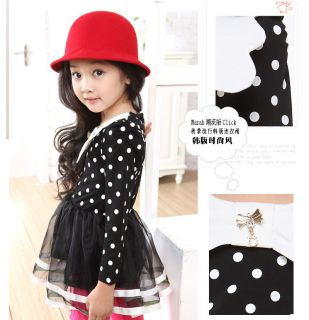 Kid Girl Toddler Clothes Polka Dot Tulle Princess Party Tutu Skirt Dresses