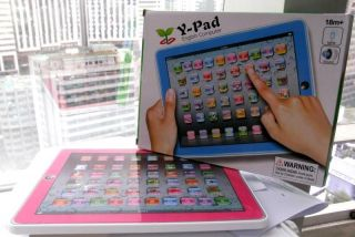 Y Pad English Children Learning Touch Screen Tablet for Kids Baby Sale