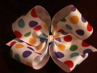 Polka Dots Baby Infant Toddler Big Girl Jumbo Extra Large Hair Bows U Pick Color
