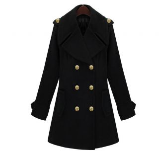 New Fashion Casual Womens Double Breasted Coat Outerwear Jacket