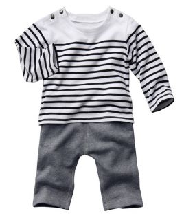 2pcs Kid Baby Toddler Boy Striped Top Pants Trousers Clothing Outfit Clothes Set