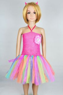 Pretty Colorful Baby Toddler Infants Girl Sweet Party Chiffon Tutu Dress 0 5T