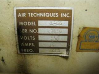 Air Techniques L 66 Dental Air Compressor 15 Gallon Tank Compresso Dri