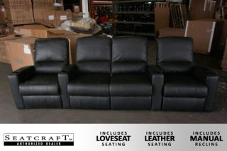 Seatcraft Majestic Row of 4 Seats w Loveseat Home Theater Seating Chairs