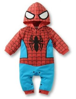 New Baby Toddler Boys Girls Spiderman Hoodies One Piece Outfits Sets 0 24 Months