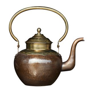 Hammered Copper and Brass Teapot