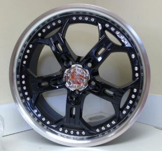 "Helo HE834 Gloss Black Machined Wheel 18x8"" 5x120mm"