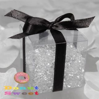 "25 3 5x3 5x3 5"" 25c Clear Favor Gift Box Wedding Party"