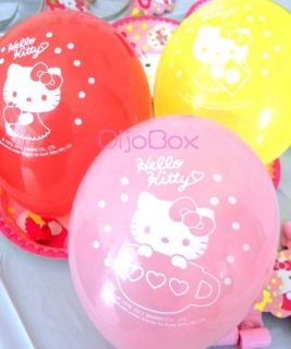 Hello Kitty Birthday Party Supplies Balloon LootBag Fork Cup Napkin Tiara Banner