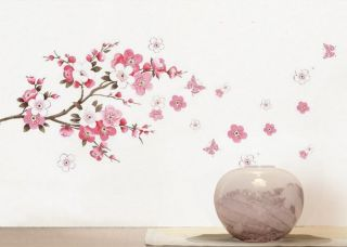 Large Cherry Blossom Flower Wall Art Decal Vinyl Sticker Removable DIY