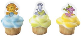 24 Ct Jungle Baby Shower Cupcake Picks Party