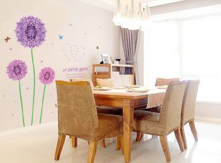 Purple Dandelion Wall Decal Home Decor Art DIY Mural Sticker Cartoon Parlour