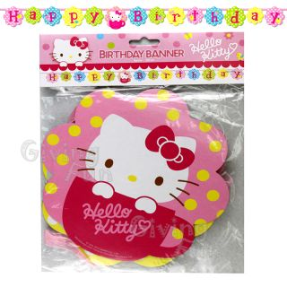 Authentic Sanrio Hello Kitty Happy Birthday Banner Kids Child Party Supplies New