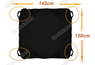Cradle Dog Car Rear Back Seat Cover Pet Mat Blanket Hammock Protector Black New
