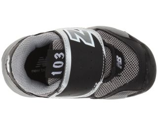 New Balance Kids Kv103 Infant Toddler Black Silver