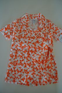 Diane Von Furstenberg for Baby Gap Girls Size 3T Wrap Dress Orange Floral