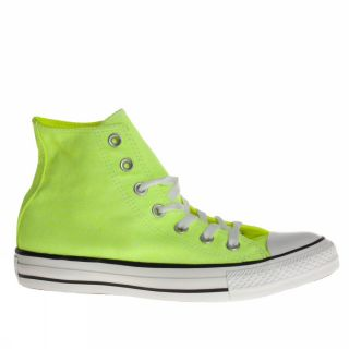 Converse All Star Ct Hi Neon US Size Lemon Yellow Trainers Shoes Mens Womens
