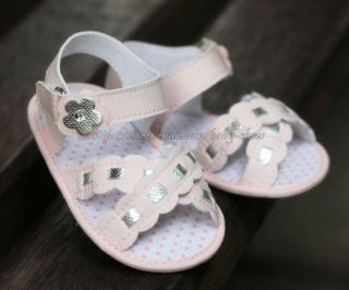 Baby Girl Pink Sandals Soft Sole Crib Shoes Size 0 6 6 12 12 18 Months
