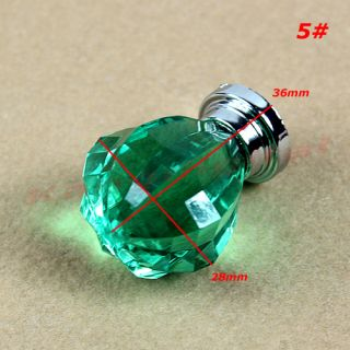 5pcs Crystal and Plastic Door Pull Knob Drawer Kitchen Cabinet Cupboard Handle