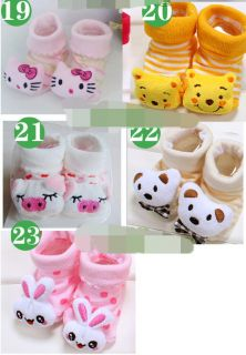 The Best Newborn Baby Socks Shoes Animal Cartoon Slippers Boots Boy Girl Unisex