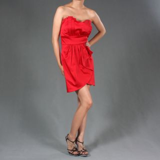 Women Strapless Cocktail Chiffon Party Mini Dress