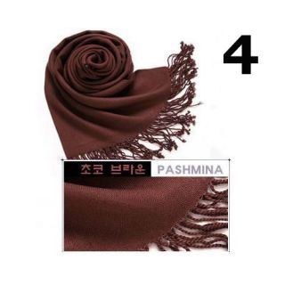 11 Colors Pashmina Cashmere Silk Solid Shawl Wrap Women's Girls Ladies Scarf