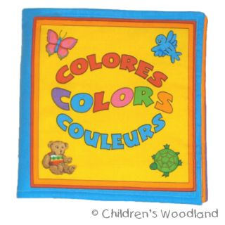 Colors Cloth Soft Book in Spanish French Kids Baby