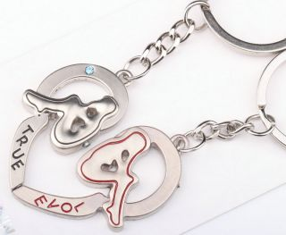 Lovely Heart True Love Boy Girl Lover Couple Metal Key Chain Keychains