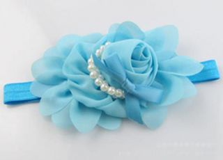 Cute Lovely Baby Toddlers Girl Flower Elastic Band Decor Headband Hairband