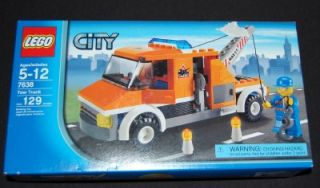 New Lego Tow Truck 7638 City Town Vehicle Building Toy 129 Piece Mini Fig Driver