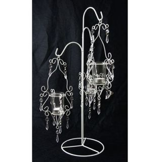 Decorative White Hanging Candle Holder Metal Centerpiece Wedding Wire DIY Home