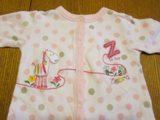 "Snugabye ""Z"" Outfit Used Infant Baby Girls Clothing Clothes Size 3 6 Months"