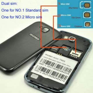"New 3 5"" Micro Sim Card Android Smart Phone Dual Sim Unlocked 2G GSM Network"