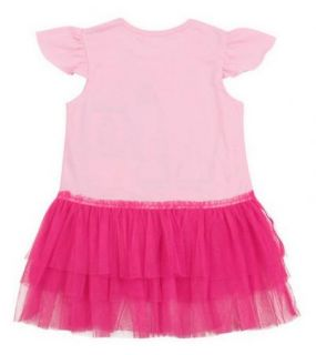 AGE2 3Y Peppa Pig Girls Short Sleeve Kids Party Top Dress Pink Ruffle Tutu Skirt