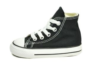 Converse Shoes Chuck Taylor Infant Baby 7J231 Black White Hi Top Canvas 7J231