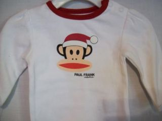 New Girls Small Paul Frank 2pc Monkey Santa Outfit 0 3M