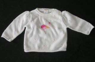 Gymboree Sweets for The Sweet Infant Baby Girls Sweater Size 6 12 Months Clothes